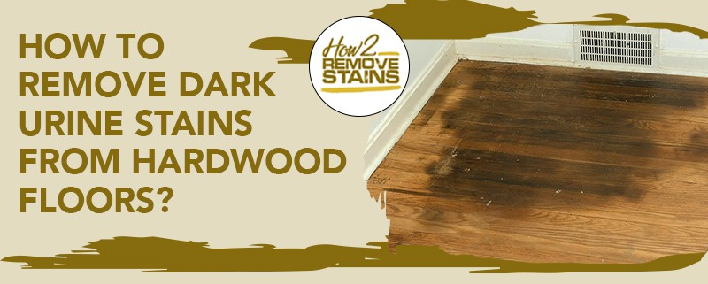 how to remove dark urine stains from hardwood floors