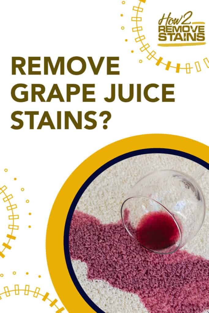 how to remove grape juice stains