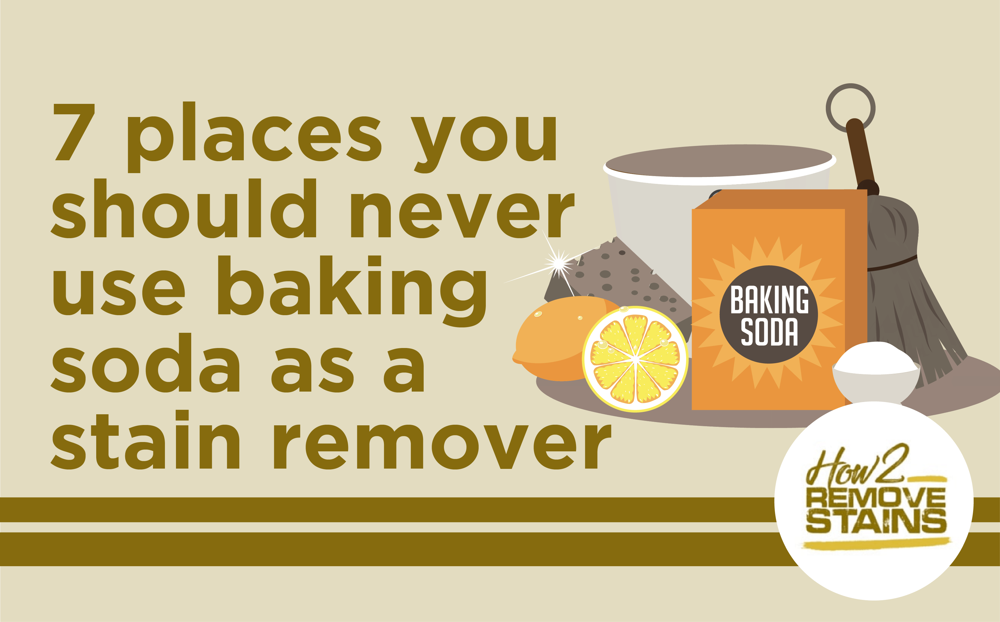 Baking Soda as stain remover