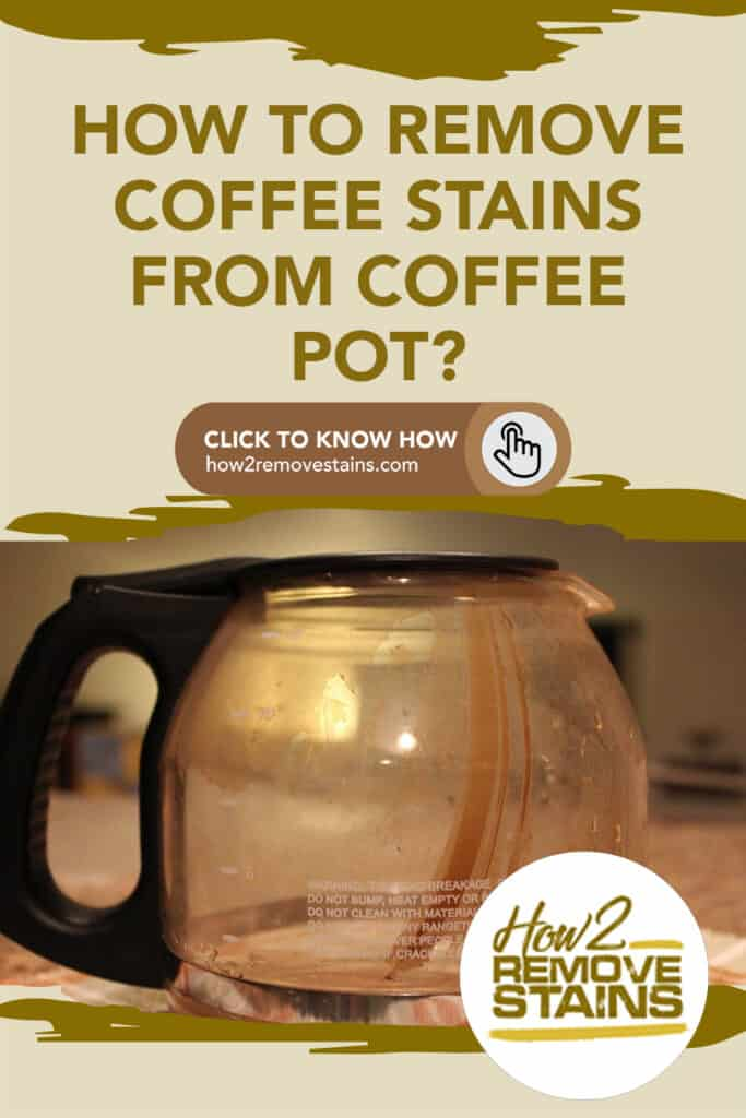 how to remove coffee stains from coffee pot