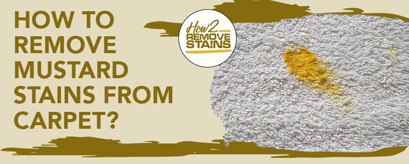 how to remove mustard stains from carpet