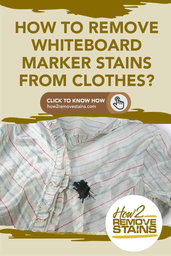 How to remove whiteboard marker stains from clothes